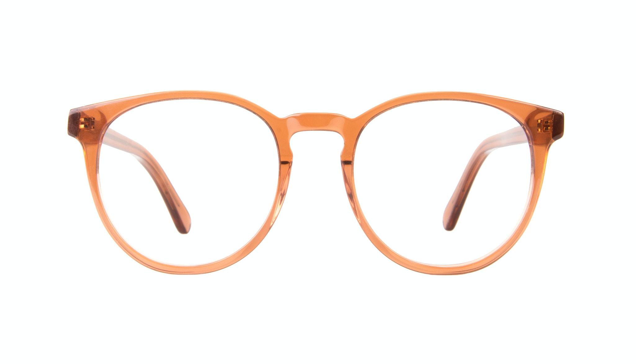 Affordable Fashion Glasses Round Eyeglasses Women Brilliant Umber Front