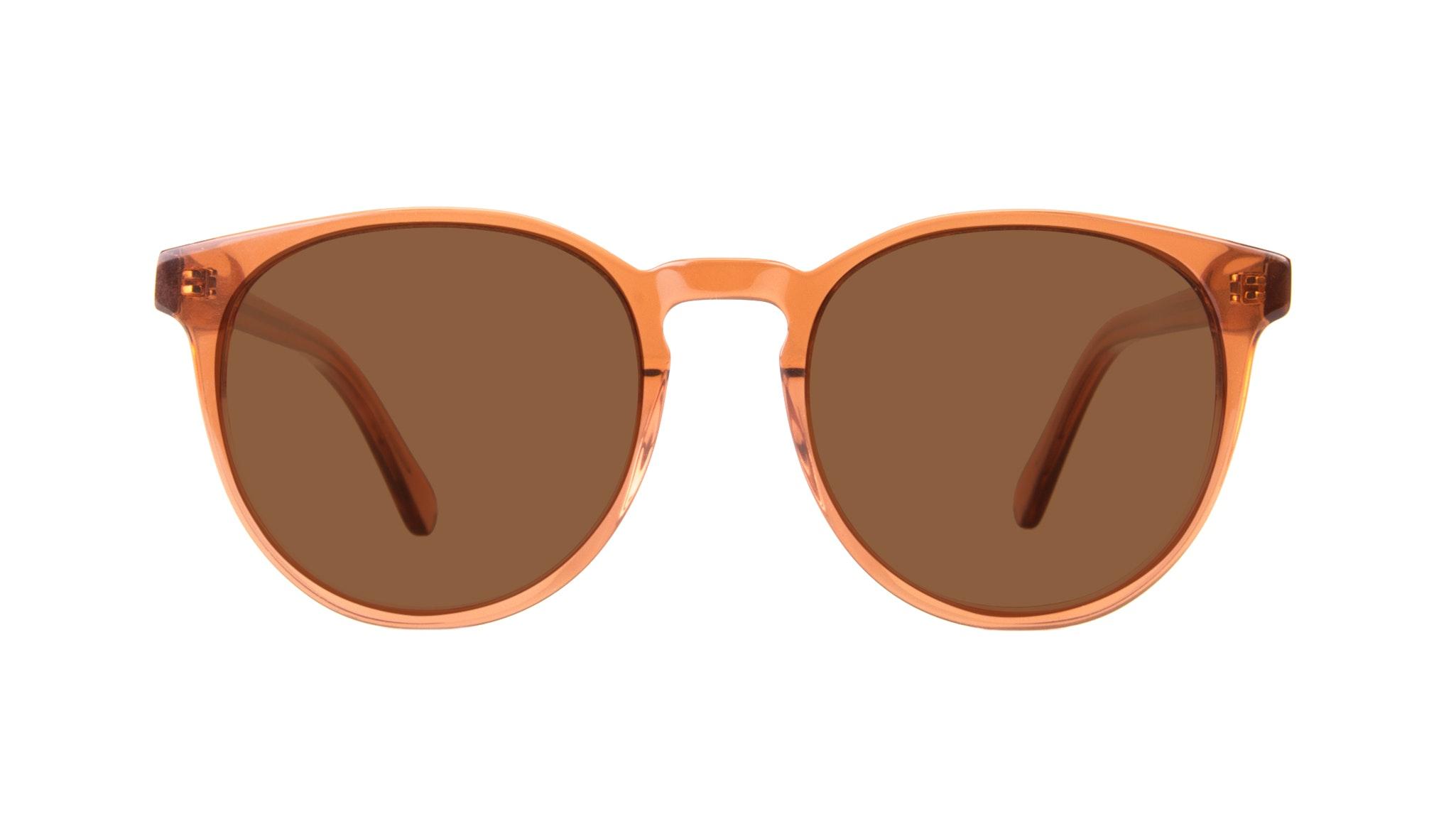 Affordable Fashion Glasses Round Eyeglasses Women Brilliant Umber