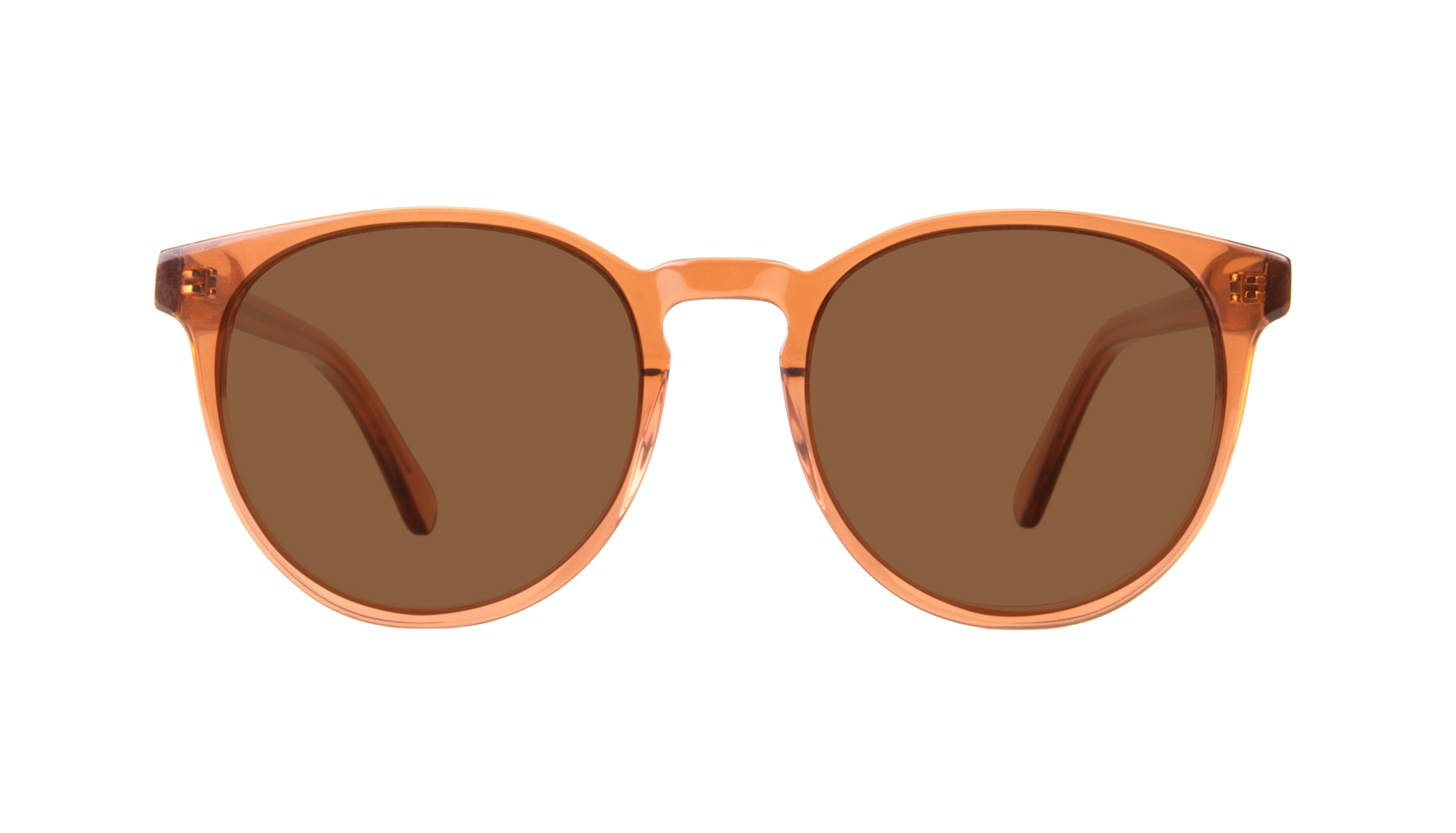 Affordable Fashion Glasses Round Sunglasses Women Brilliant Umber Front