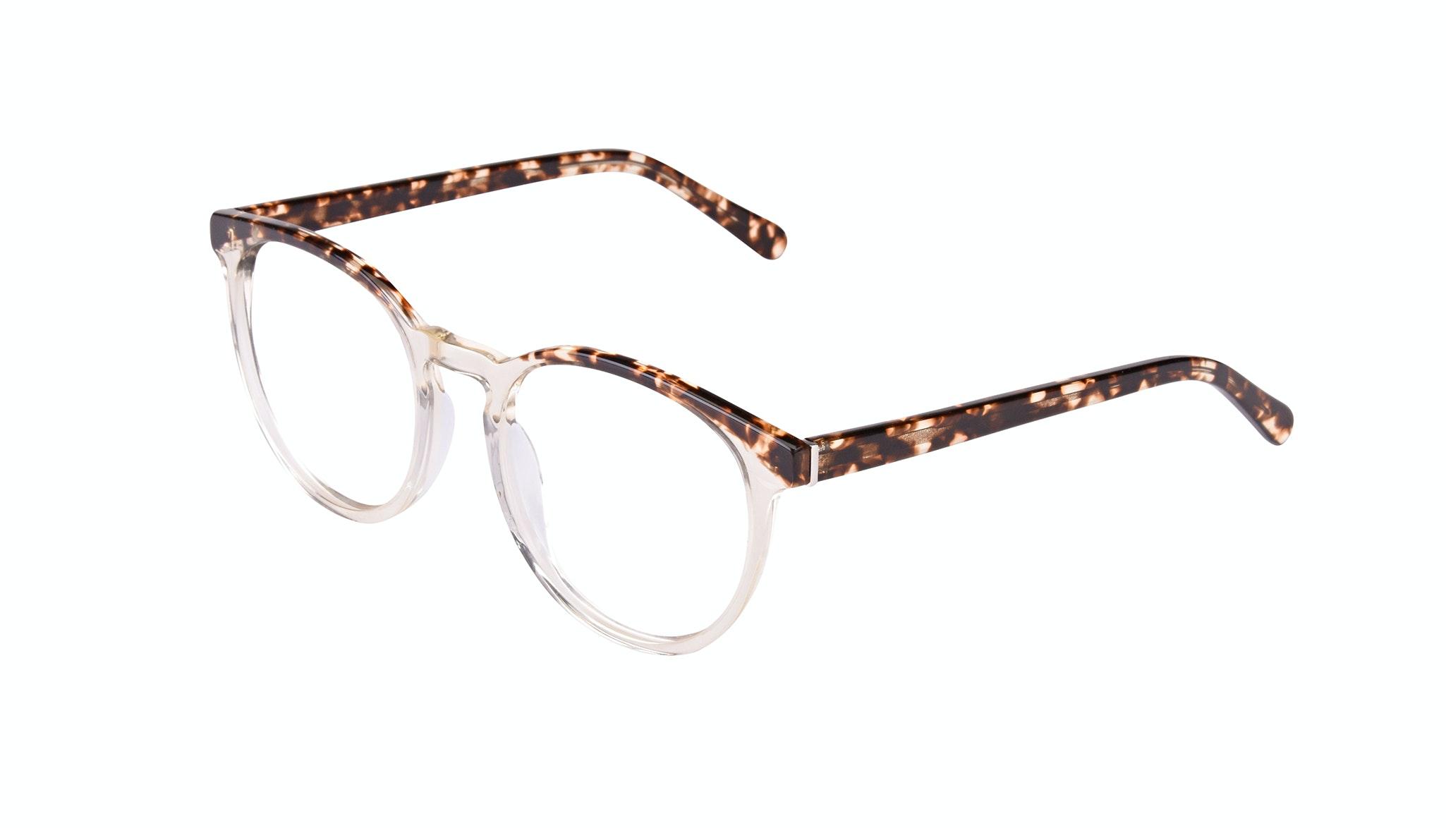 Affordable Fashion Glasses Round Eyeglasses Women Brilliant Blond Tortoise Tilt