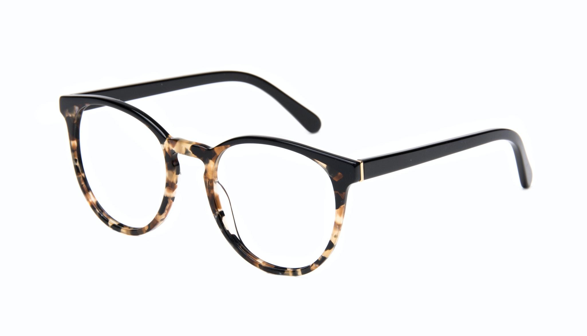 Affordable Fashion Glasses Round Eyeglasses Women Brilliant Dark Tortoise Tilt