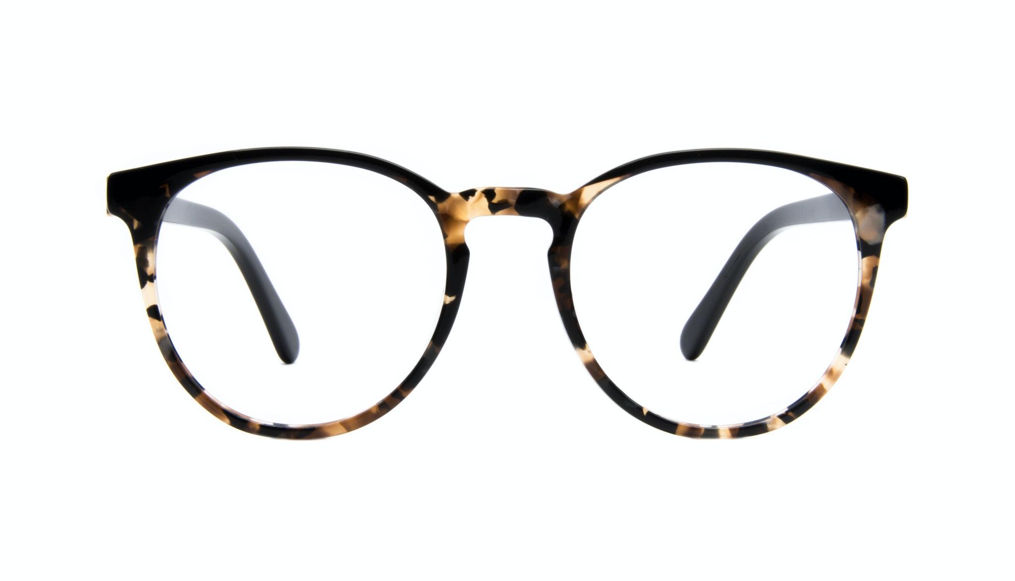 Affordable Fashion Glasses Round Eyeglasses Women Brilliant Dark Tortoise Front