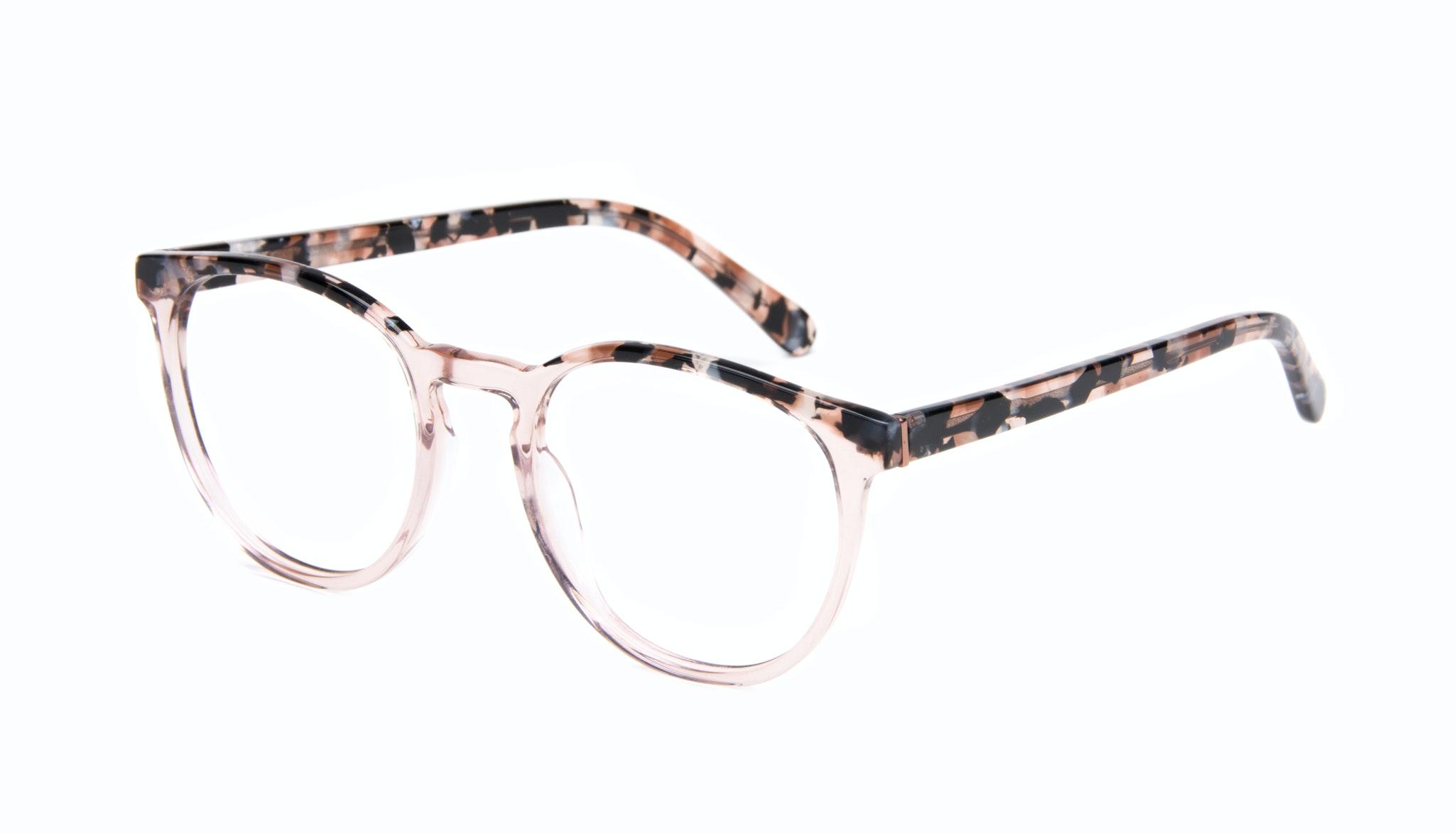 Affordable Fashion Glasses Round Eyeglasses Women Brilliant Rose Tort Tilt