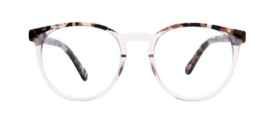 Affordable Fashion Glasses Round Eyeglasses Women Brilliant Rose Tort Front