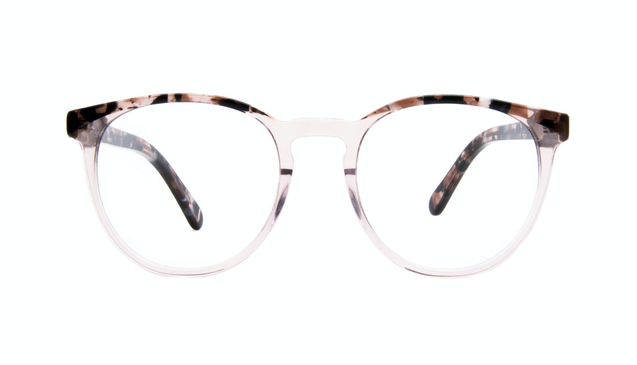 Affordable Fashion Glasses Round Eyeglasses Women Brilliant Rose Tort Front