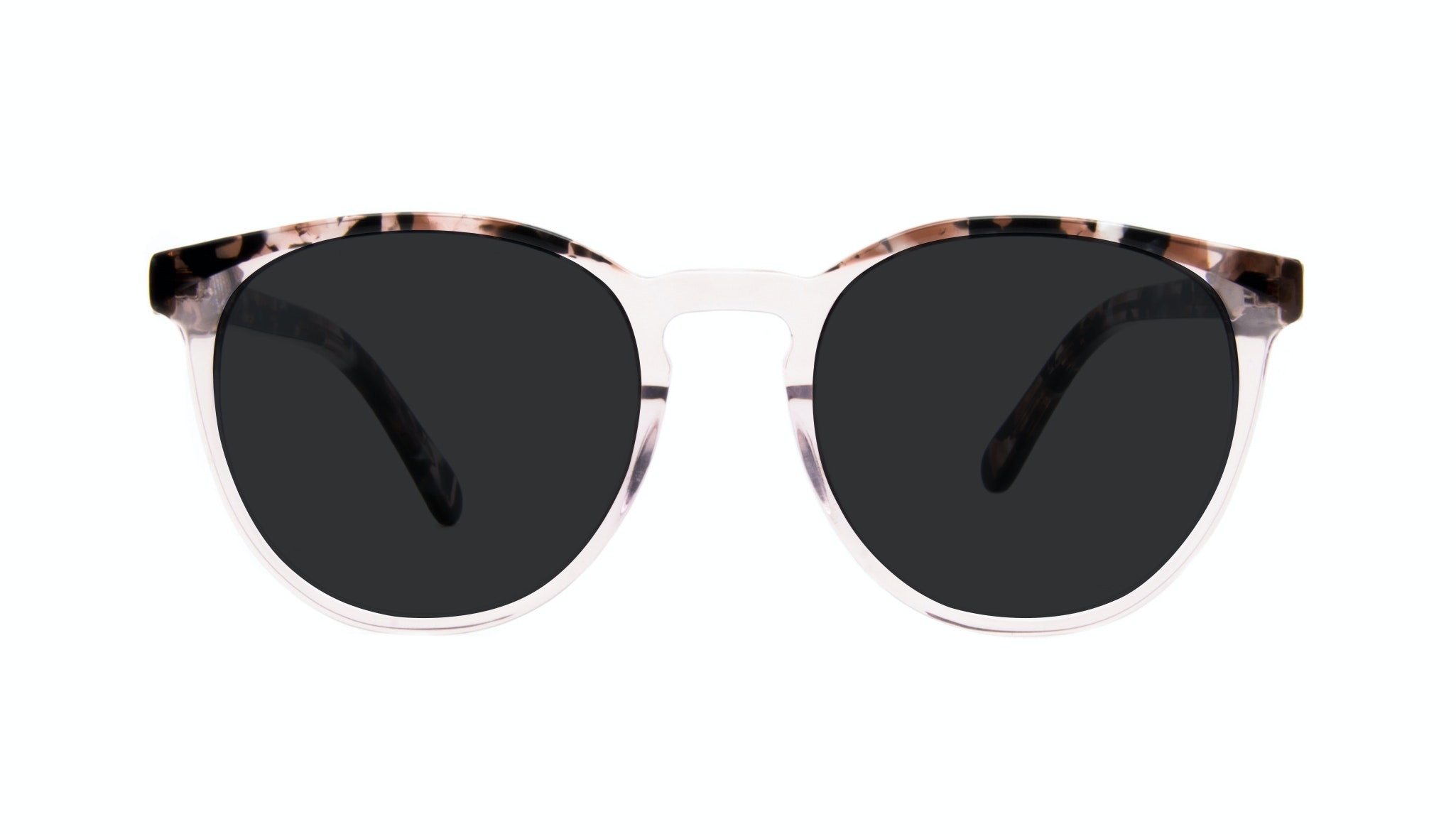 Affordable Fashion Glasses Round Sunglasses Women Brilliant Rose Tort Front