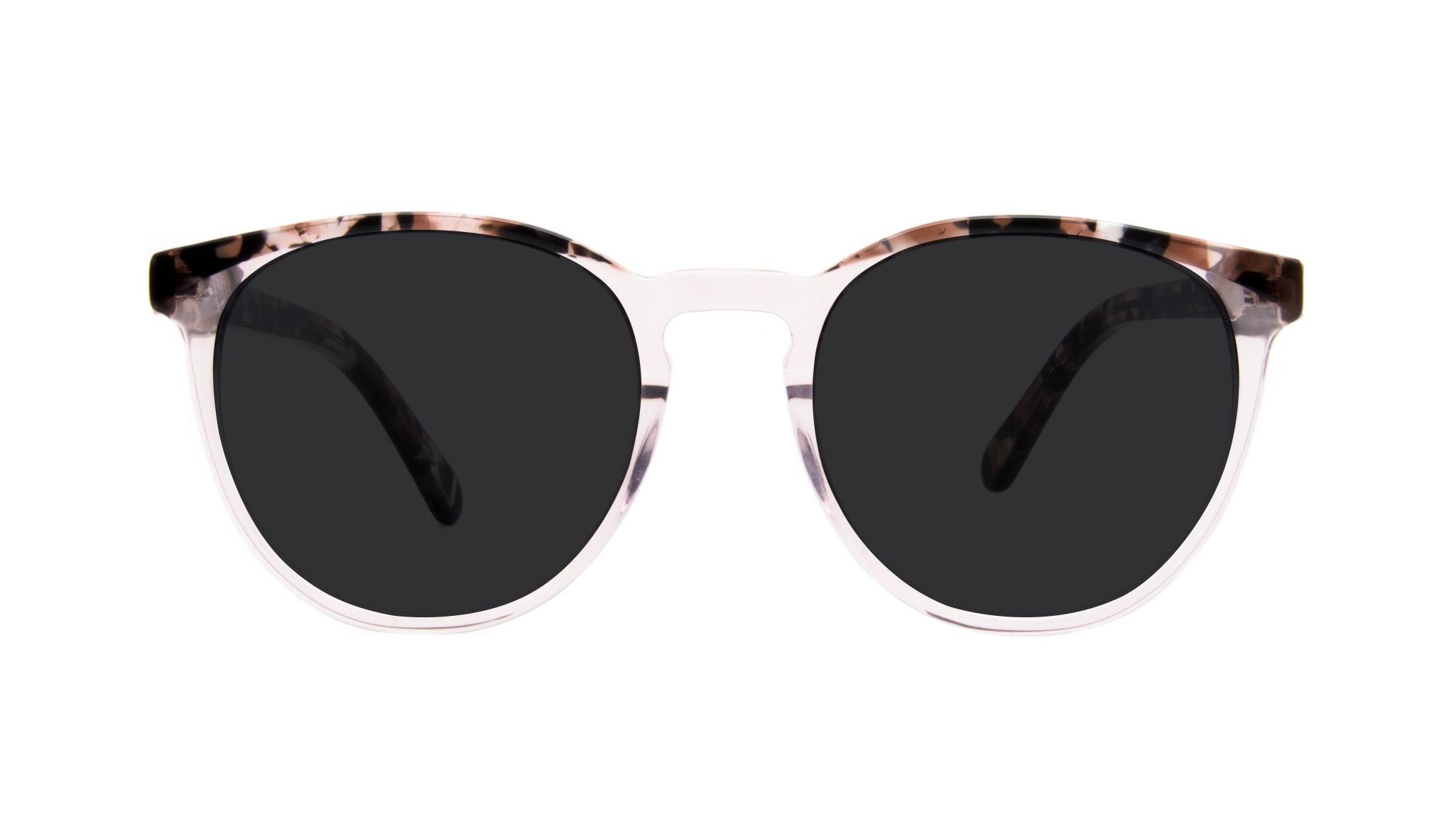 Affordable Fashion Glasses Round Eyeglasses Women Brilliant Rose Tort
