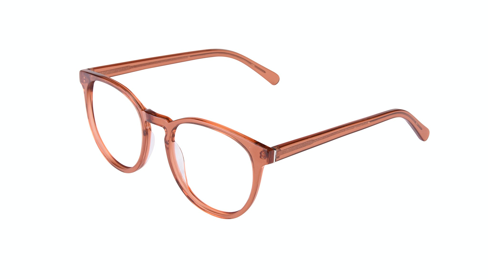 Affordable Fashion Glasses Round Eyeglasses Women Brilliant Umber Tilt