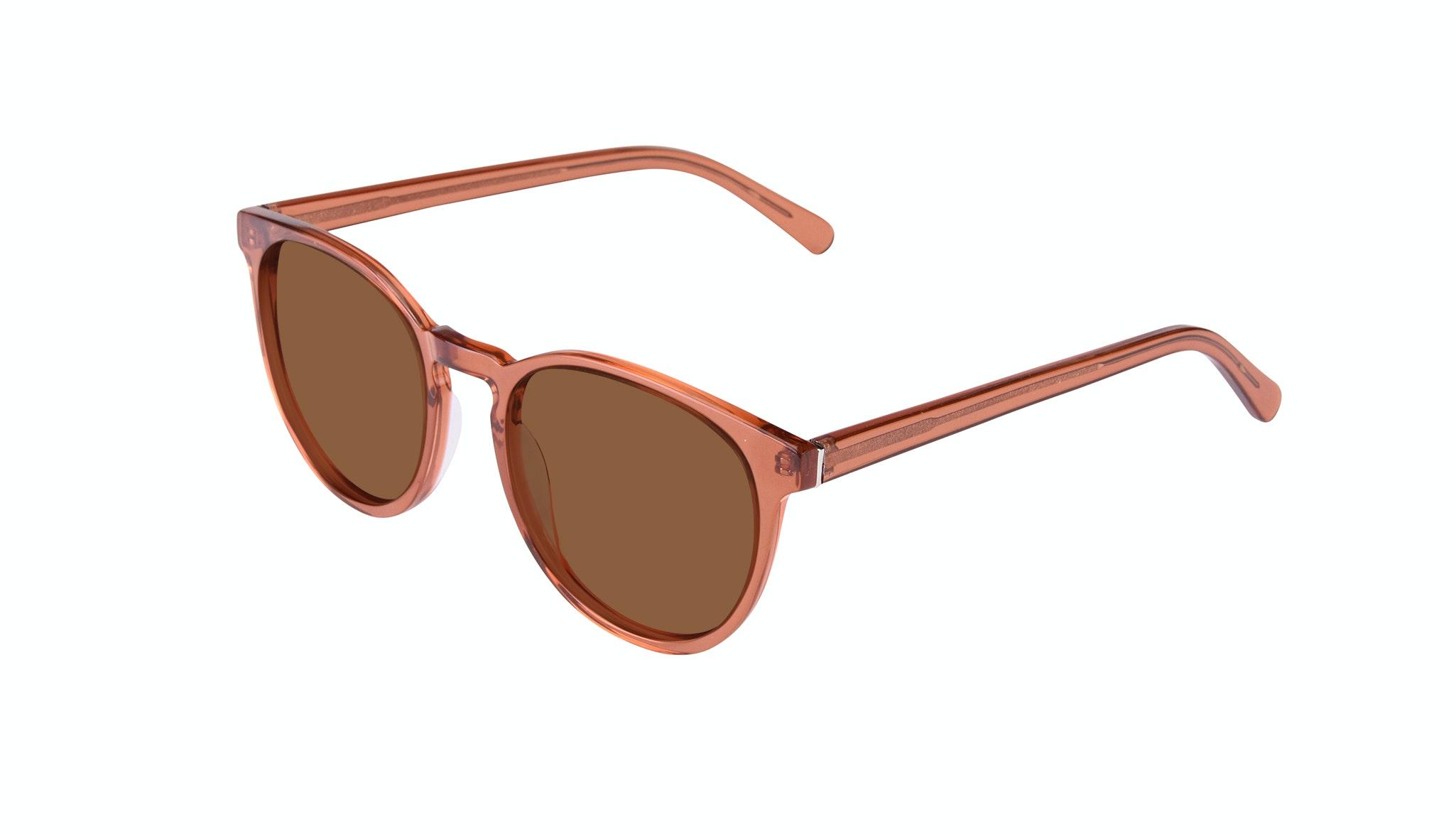 Affordable Fashion Glasses Round Sunglasses Women Brilliant Umber Tilt