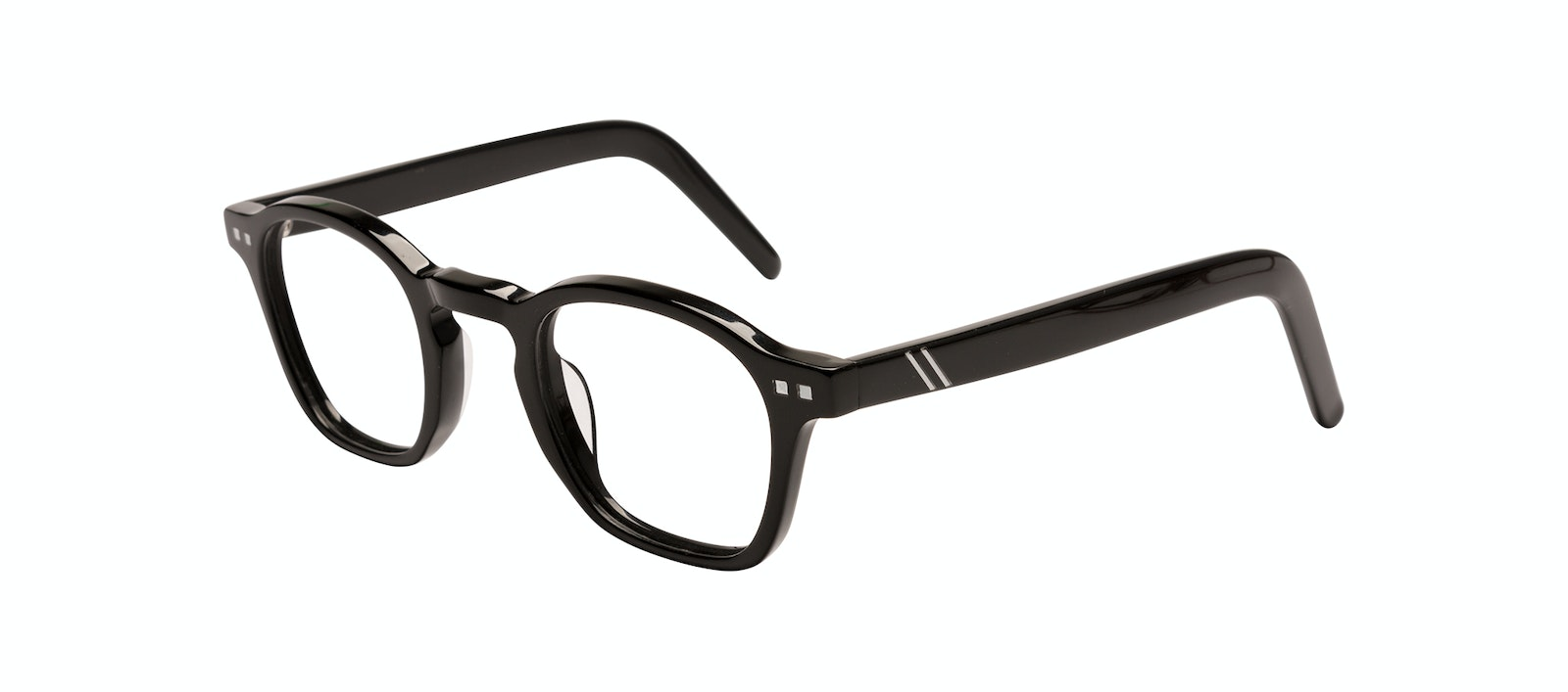 Affordable Fashion Glasses Square Eyeglasses Men Brisk Onyx Tilt