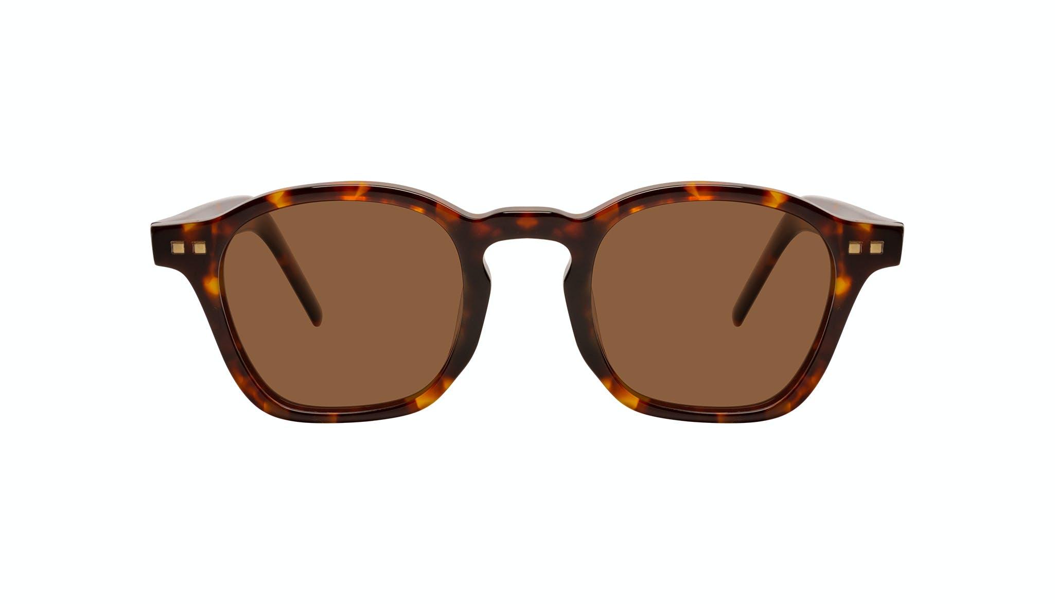 Lunettes tendance Carrée Lunettes de soleil Hommes Brisk Tortoise Face