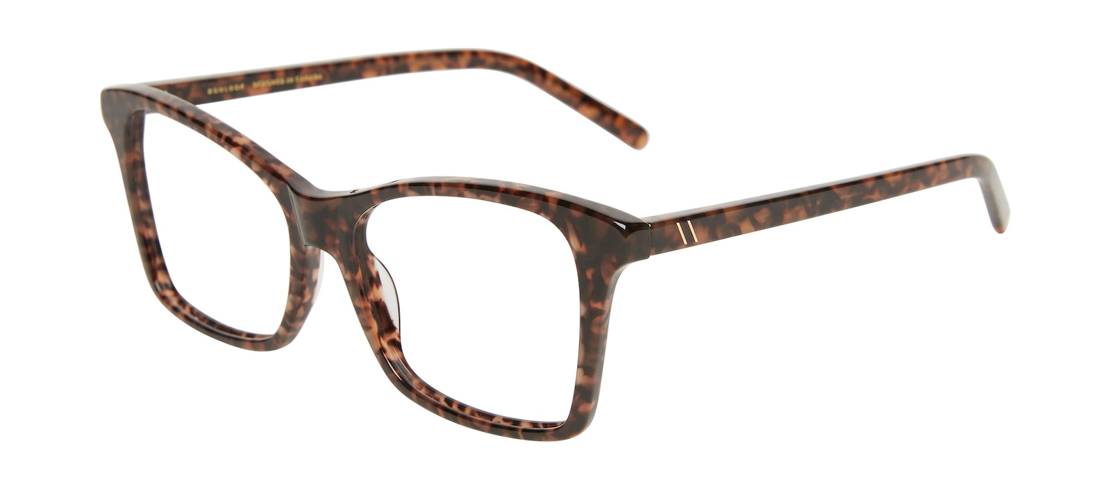 Affordable Fashion Glasses Square Eyeglasses Women Cadence Leopard Tilt