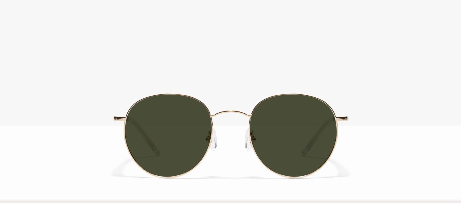 Affordable Fashion Glasses Round Sunglasses Women Calibre Gold Front