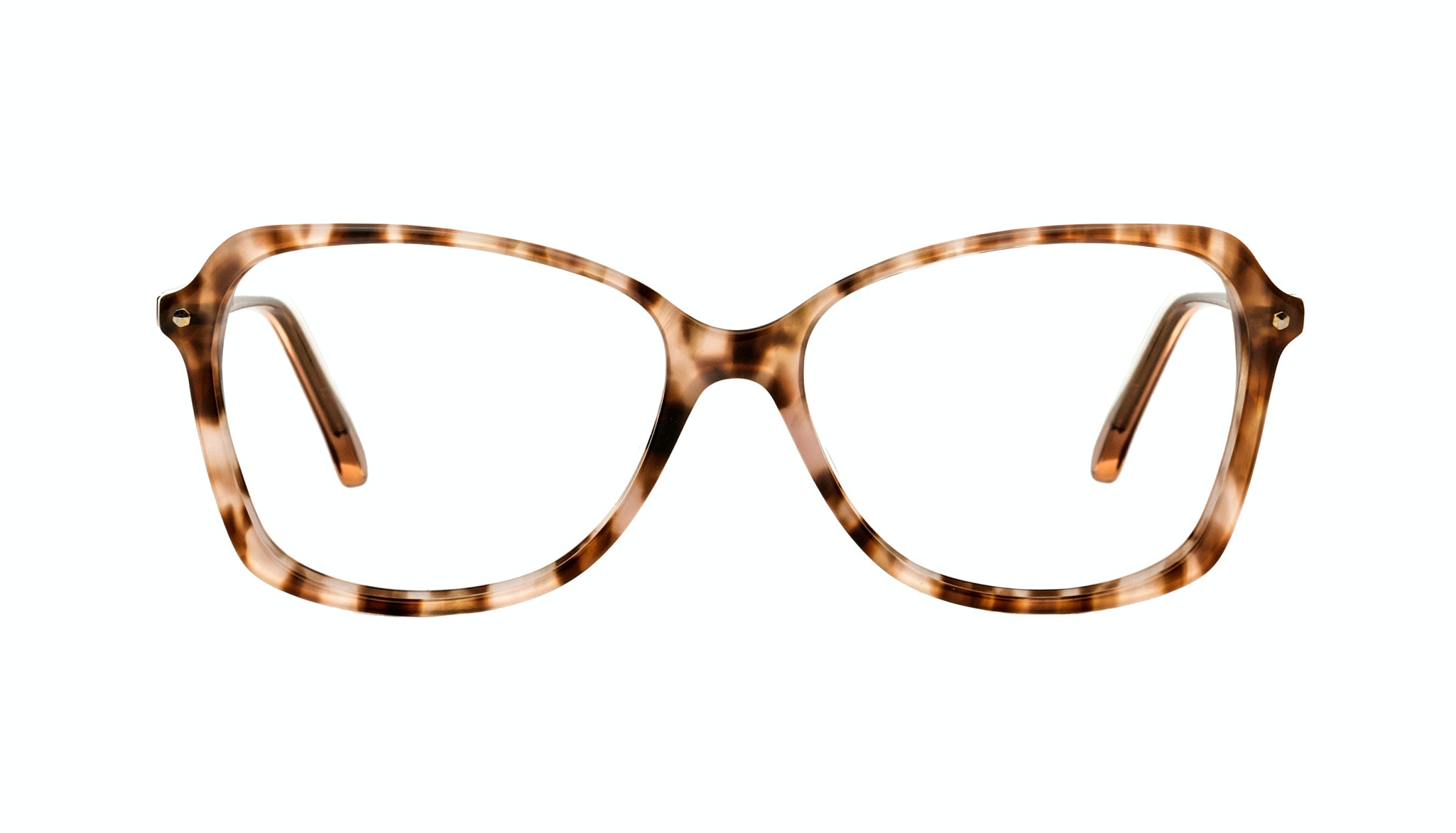 Affordable Fashion Glasses Rectangle Eyeglasses Women Captivate Rose Tortoise Front