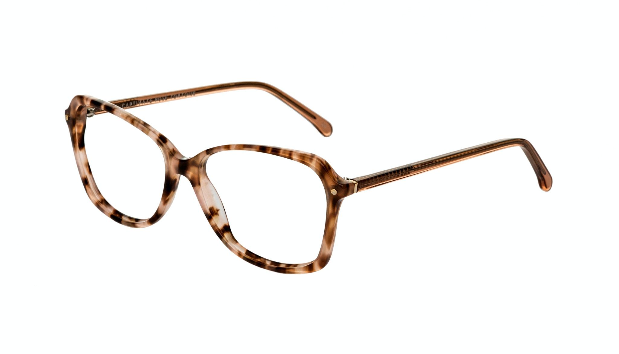 Affordable Fashion Glasses Rectangle Eyeglasses Women Captivate Rose Tortoise Tilt