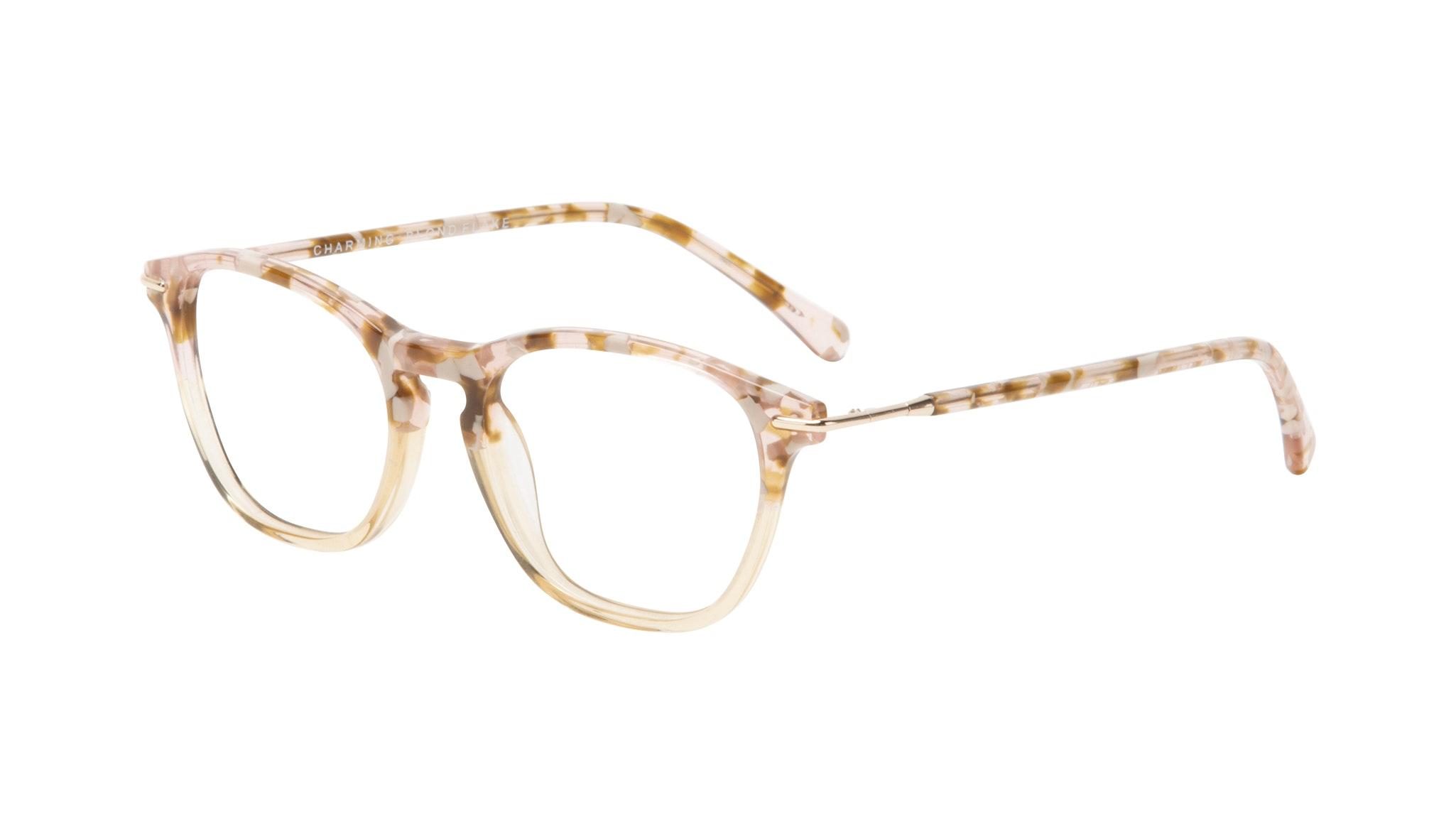Affordable Fashion Glasses Square Eyeglasses Women Charming Blond Flake Tilt