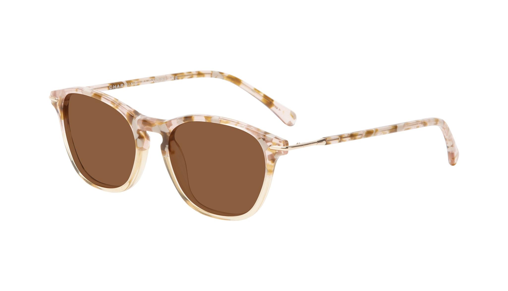 Affordable Fashion Glasses Square Sunglasses Women Charming Blond Flake Tilt