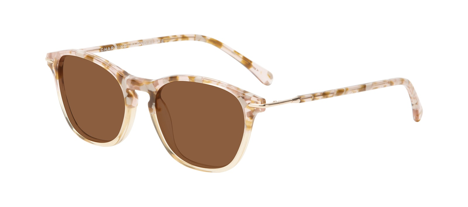 Affordable Fashion Glasses Square Sunglasses Women Charming Blond Flake Tilt