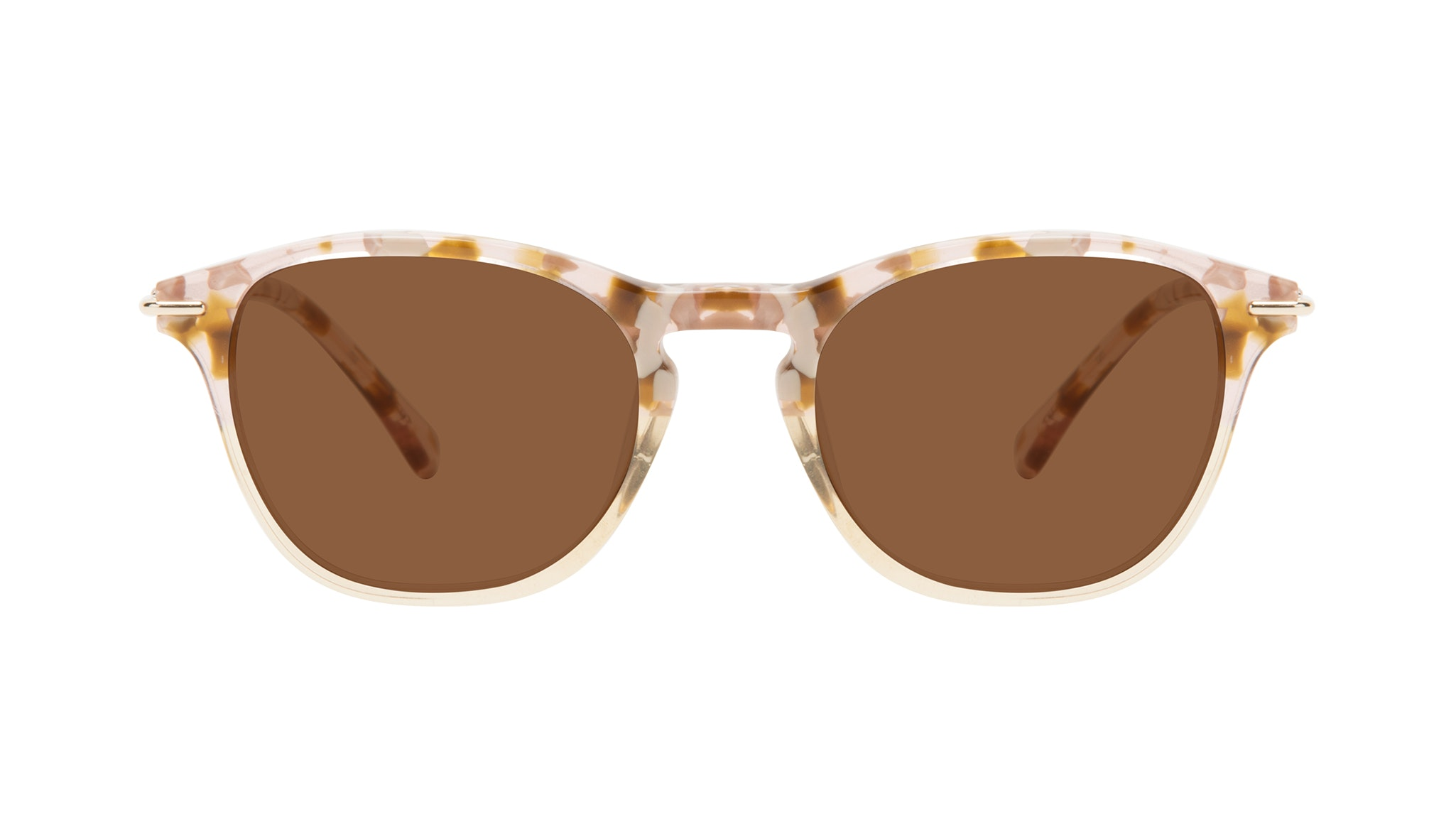 Affordable Fashion Glasses Square Sunglasses Women Charming Blond Flake Front