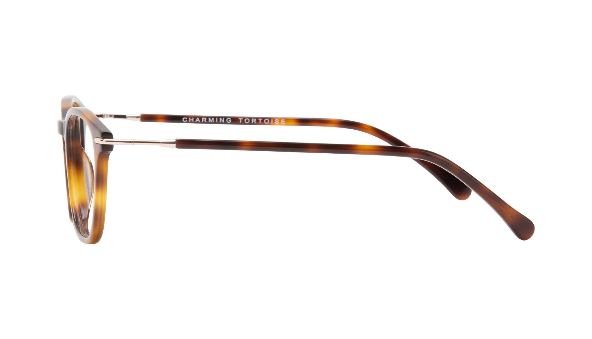 Affordable Fashion Glasses Square Eyeglasses Women Charming Tortoise Side