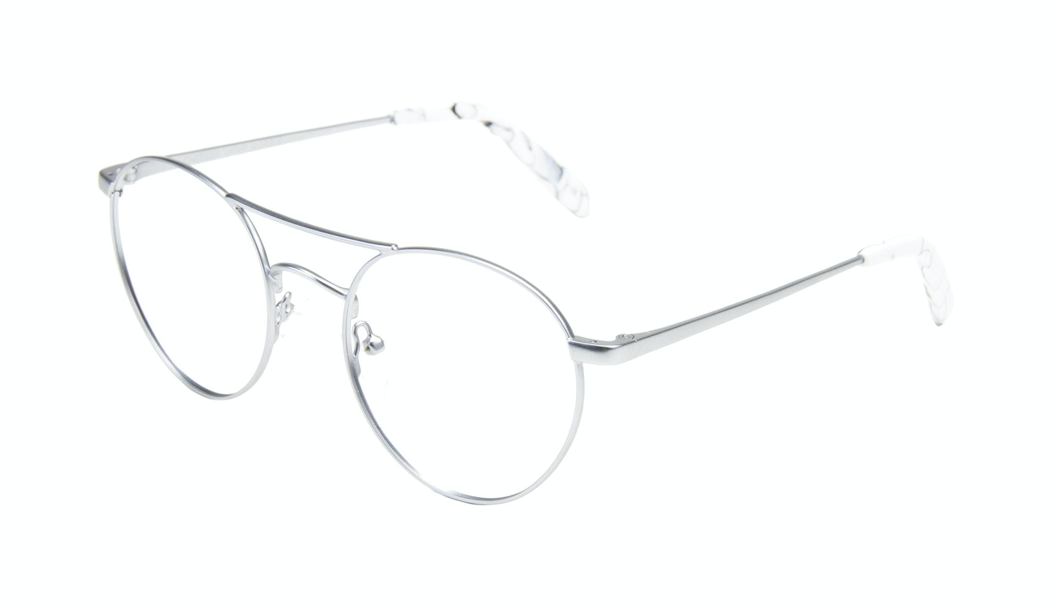Affordable Fashion Glasses Aviator Round Eyeglasses Women Chelsea Light Marble Tilt