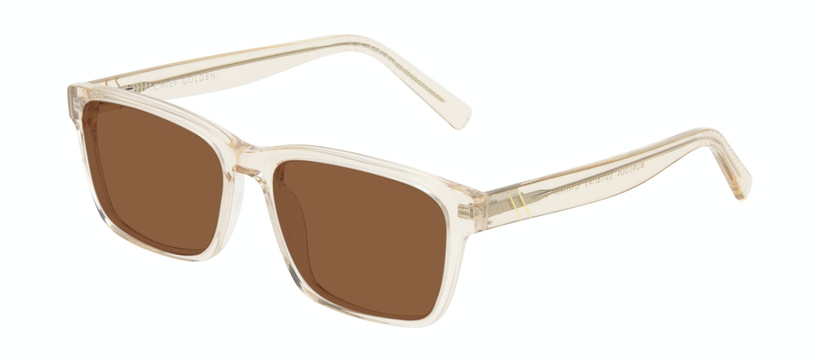 Affordable Fashion Glasses Square Sunglasses Men Chief Golden Tilt