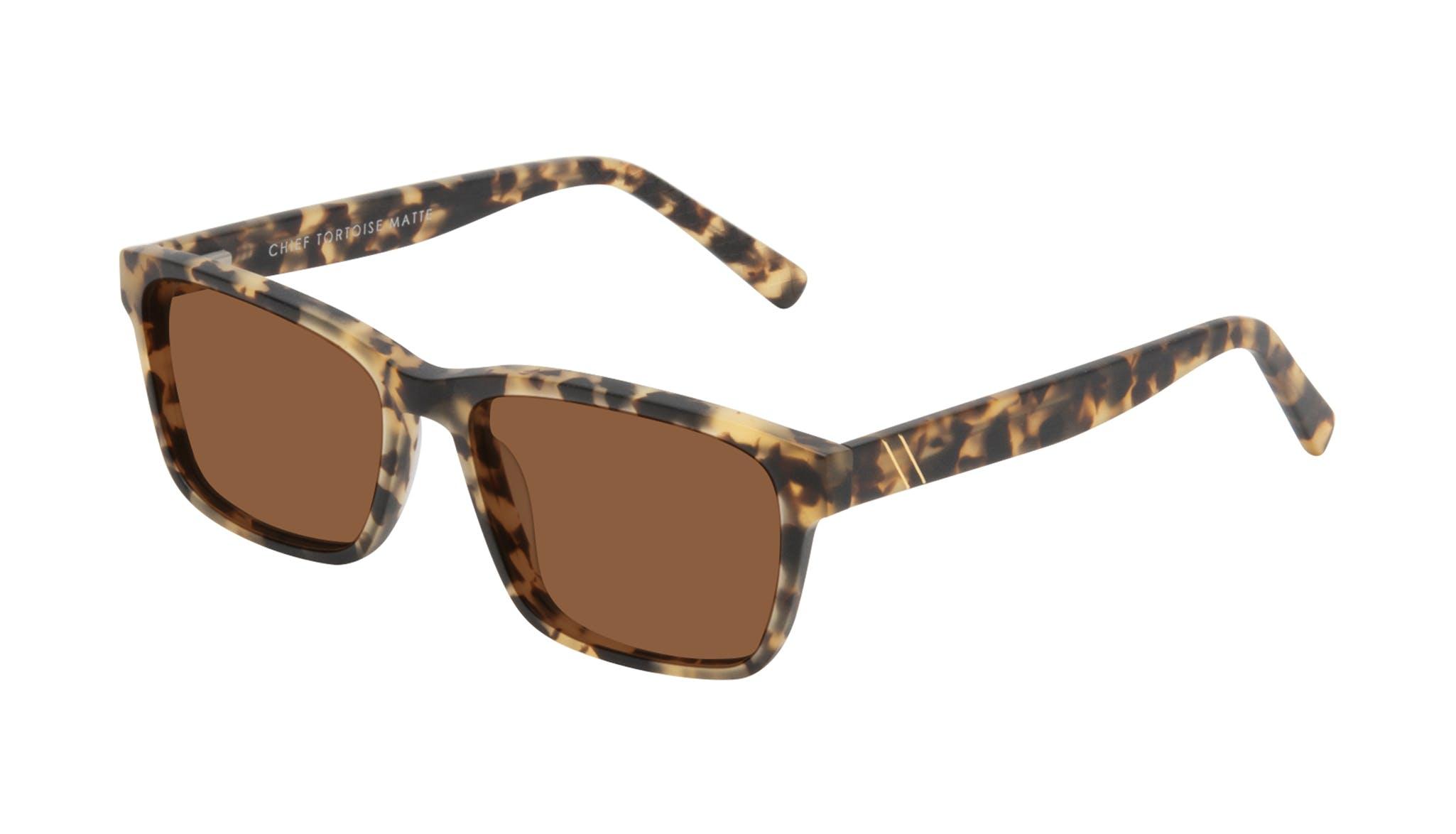 Affordable Fashion Glasses Square Sunglasses Men Chief Tortoise Matte Tilt