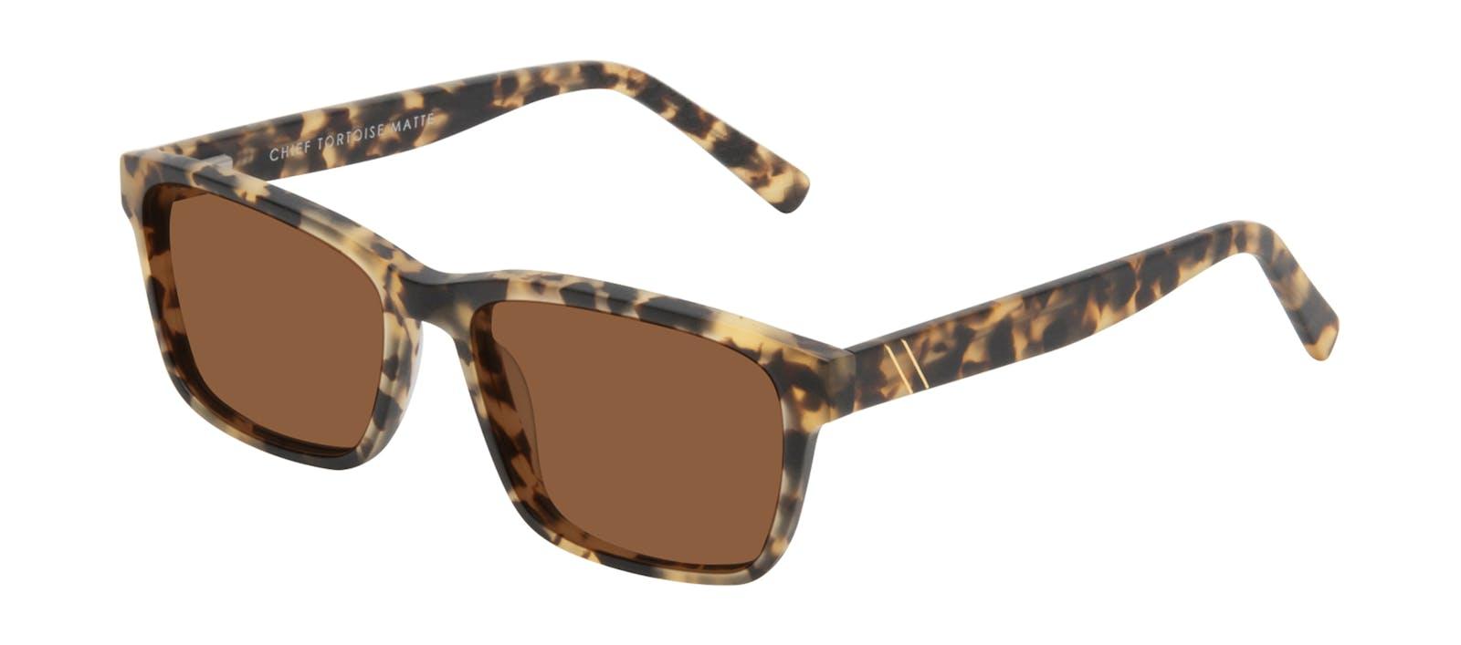 63619bcc38 Affordable Fashion Glasses Square Sunglasses Men Chief Tortoise Matte Tilt
