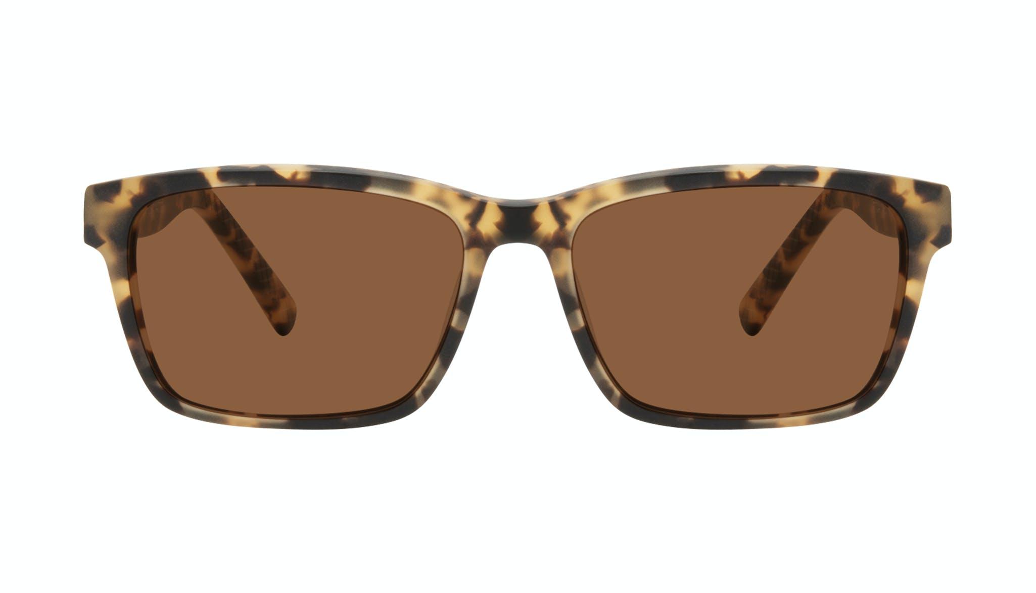 Affordable Fashion Glasses Square Sunglasses Men Chief Tortoise Matte Front