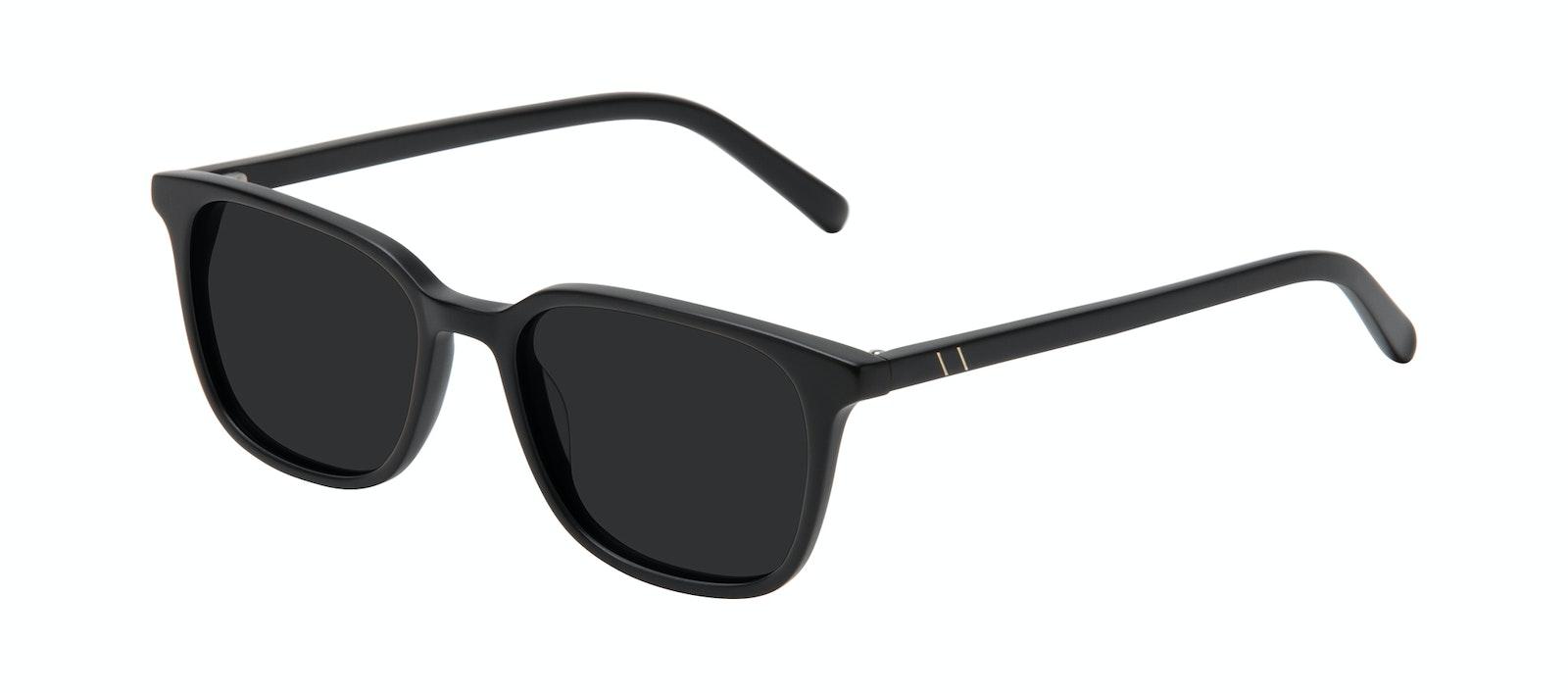 Lunettes tendance Carrée Lunettes de soleil Hommes Choice Black Matte Incliné