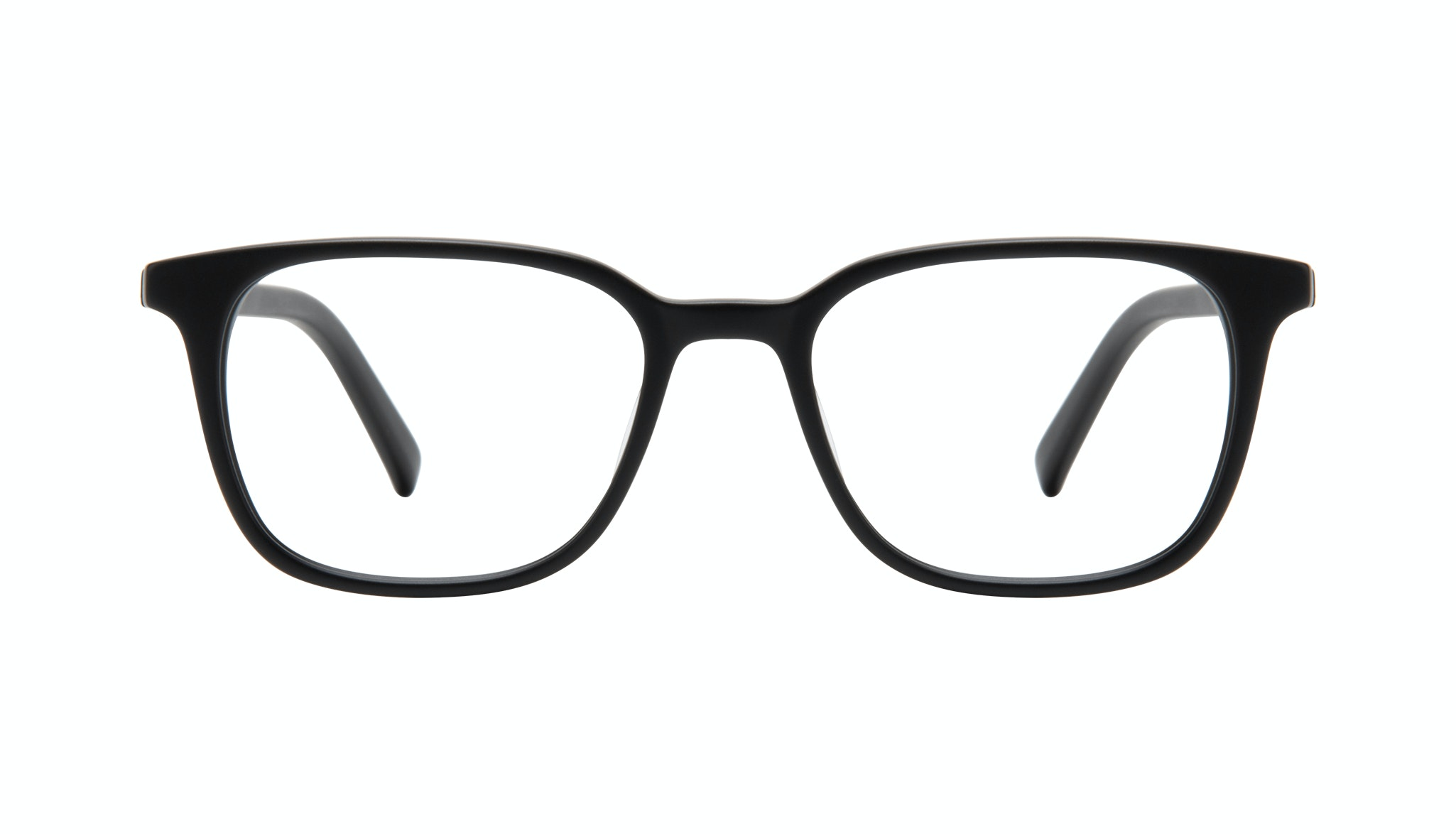 Affordable Fashion Glasses Square Eyeglasses Men Choice Black Matte Front