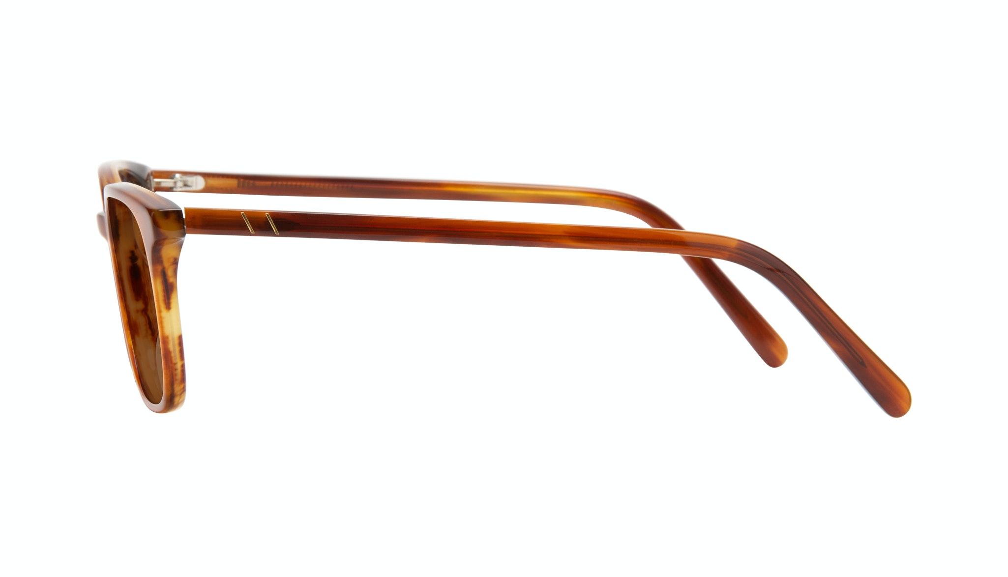 Affordable Fashion Glasses Square Sunglasses Men Choice Havana Side