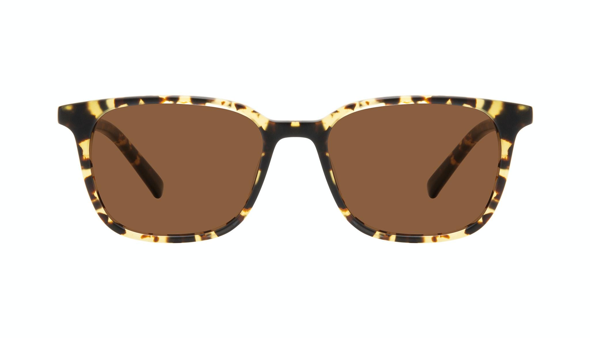 Affordable Fashion Glasses Square Sunglasses Men Choice Tortoise Matte Front