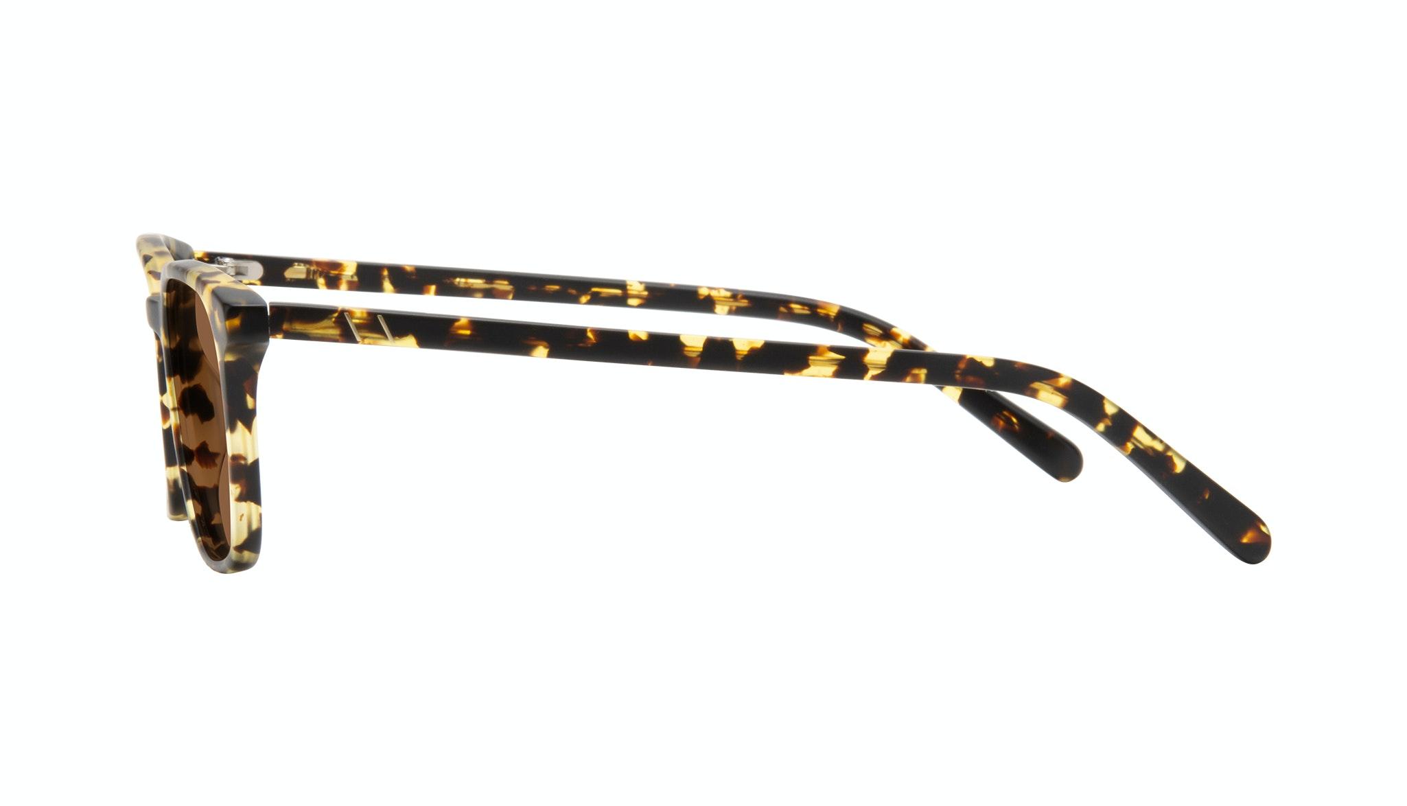 Affordable Fashion Glasses Square Sunglasses Men Choice Tortoise Matte Side