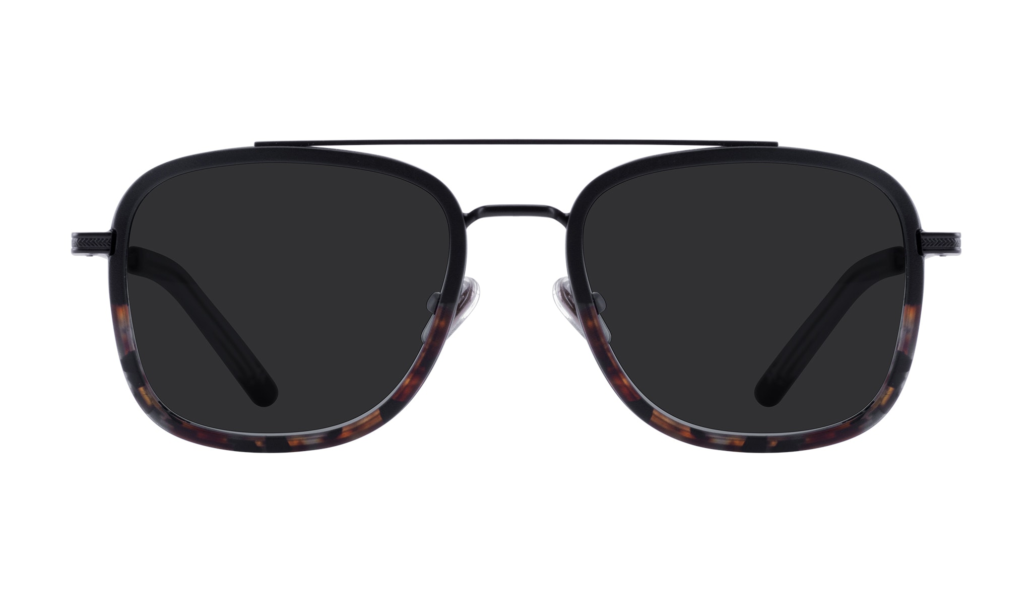 Affordable Fashion Glasses Aviator Rectangle Sunglasses Men Class Mahogany Front