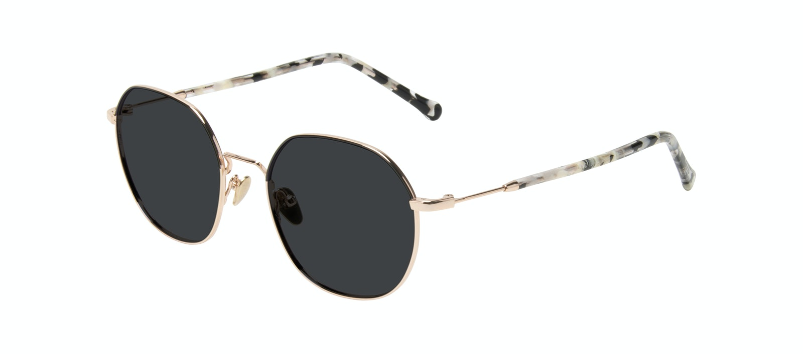 Affordable Fashion Glasses Round Sunglasses Women Coco Deep Gold Tilt