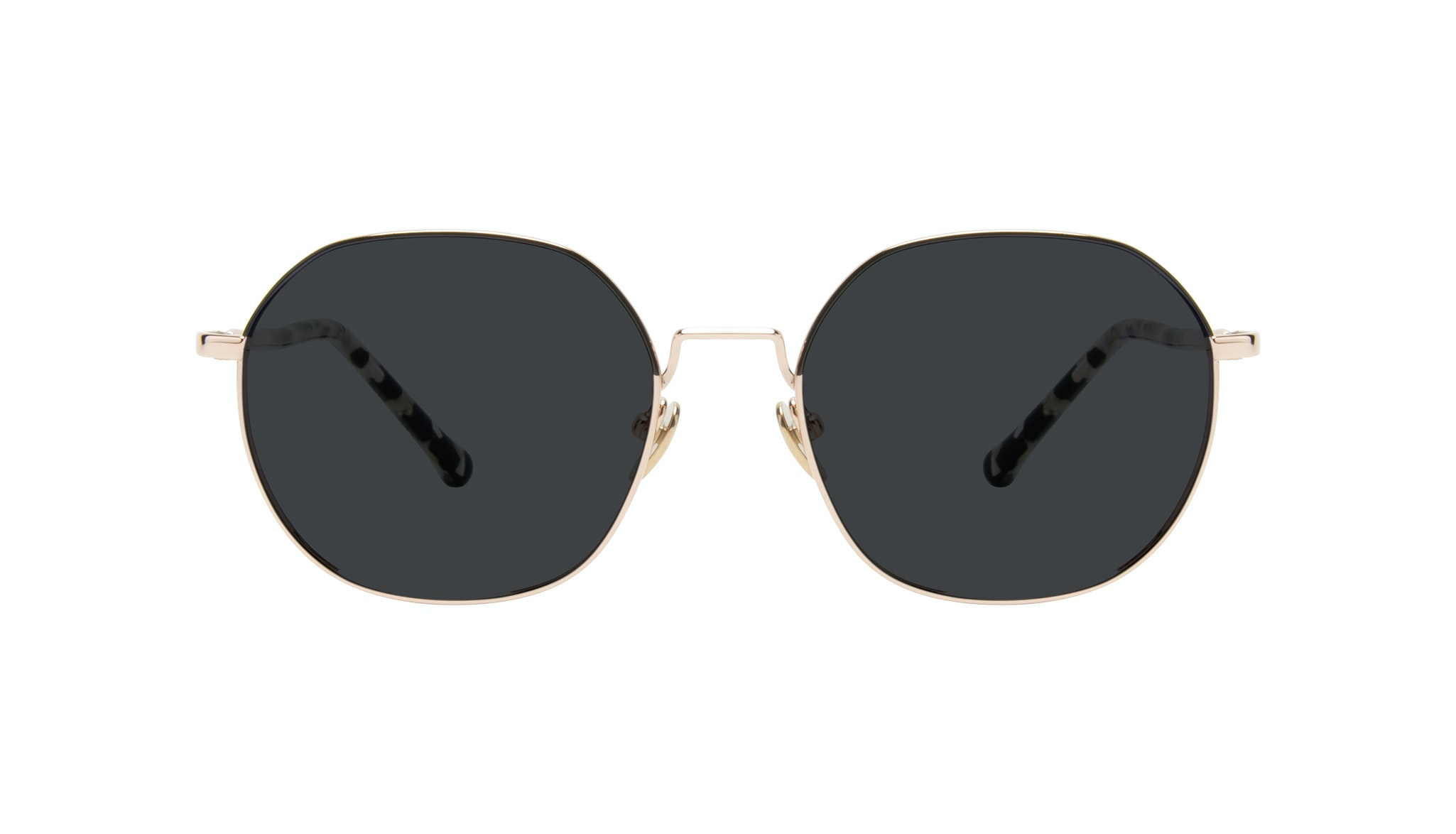 Affordable Fashion Glasses Round Sunglasses Women Coco Deep Gold