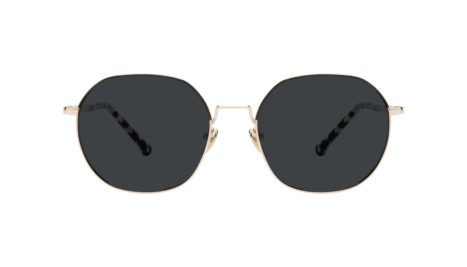 Affordable Fashion Glasses Round Sunglasses Women Coco Deep Goldd