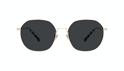 Affordable Fashion Glasses Round Sunglasses Women Coco Deep Gold Front