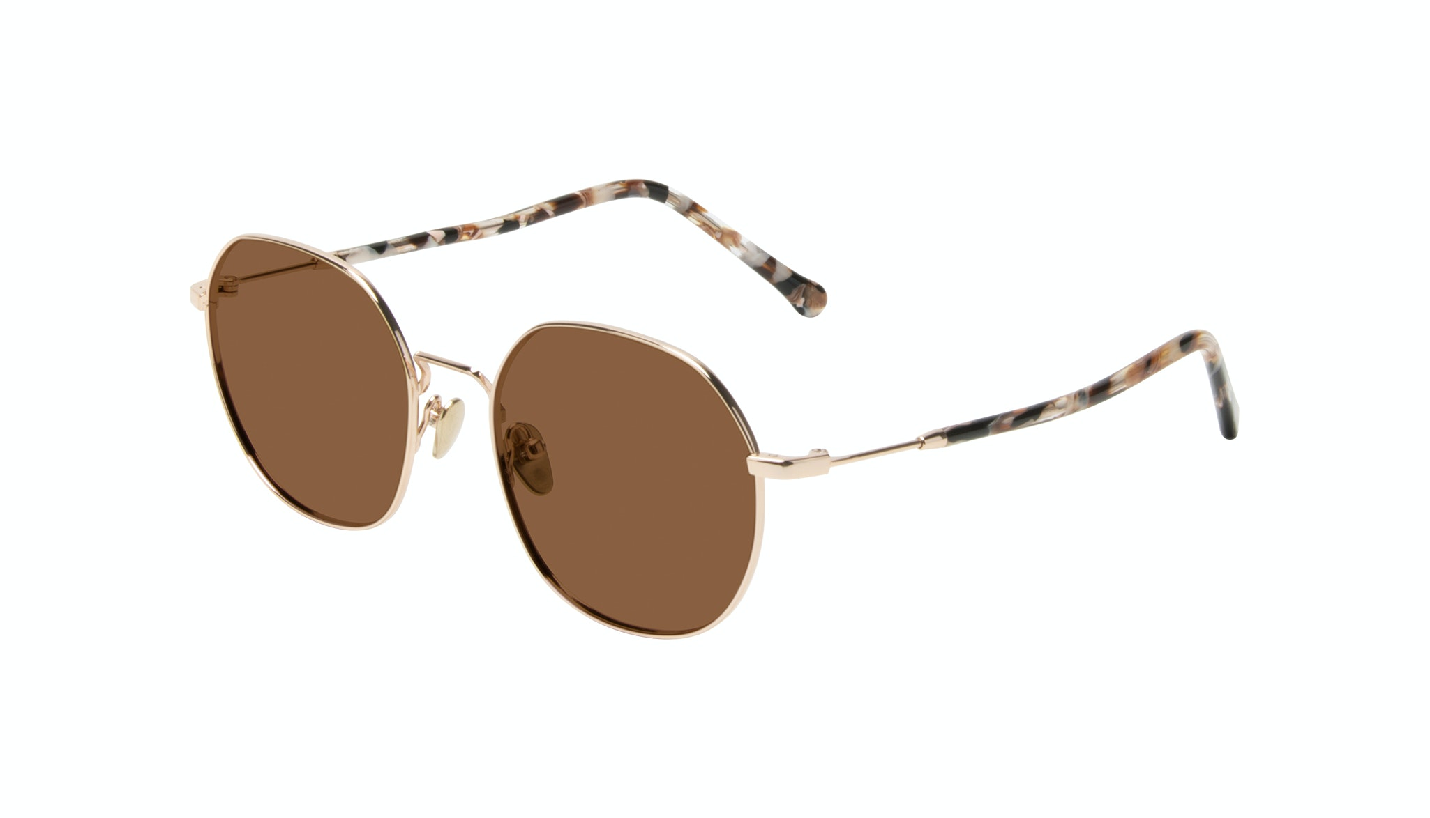 Affordable Fashion Glasses Round Sunglasses Women Coco Gold Tilt