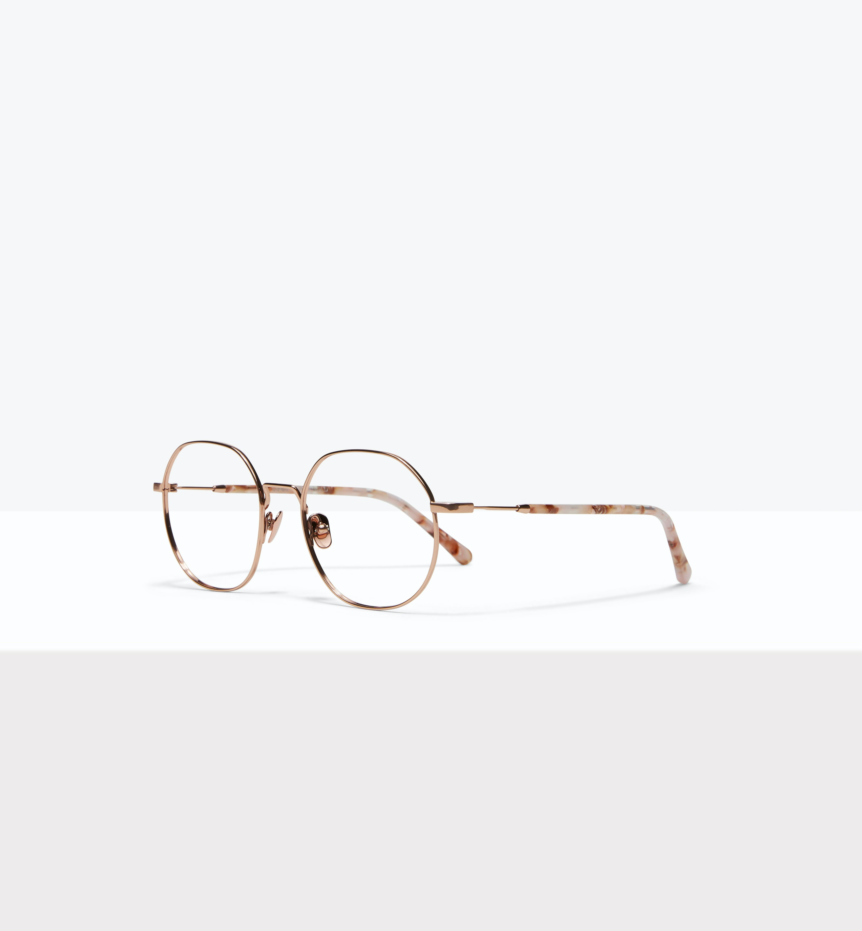 Affordable Fashion Glasses Round Eyeglasses Women Coco Rose Gold Tilt
