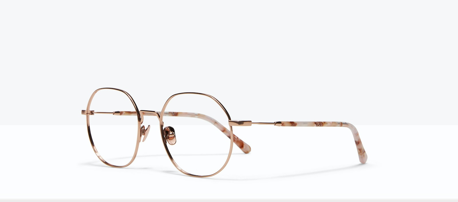Affordable Fashion Glasses Round Eyeglasses Women Coco L Rose Gold Tilt