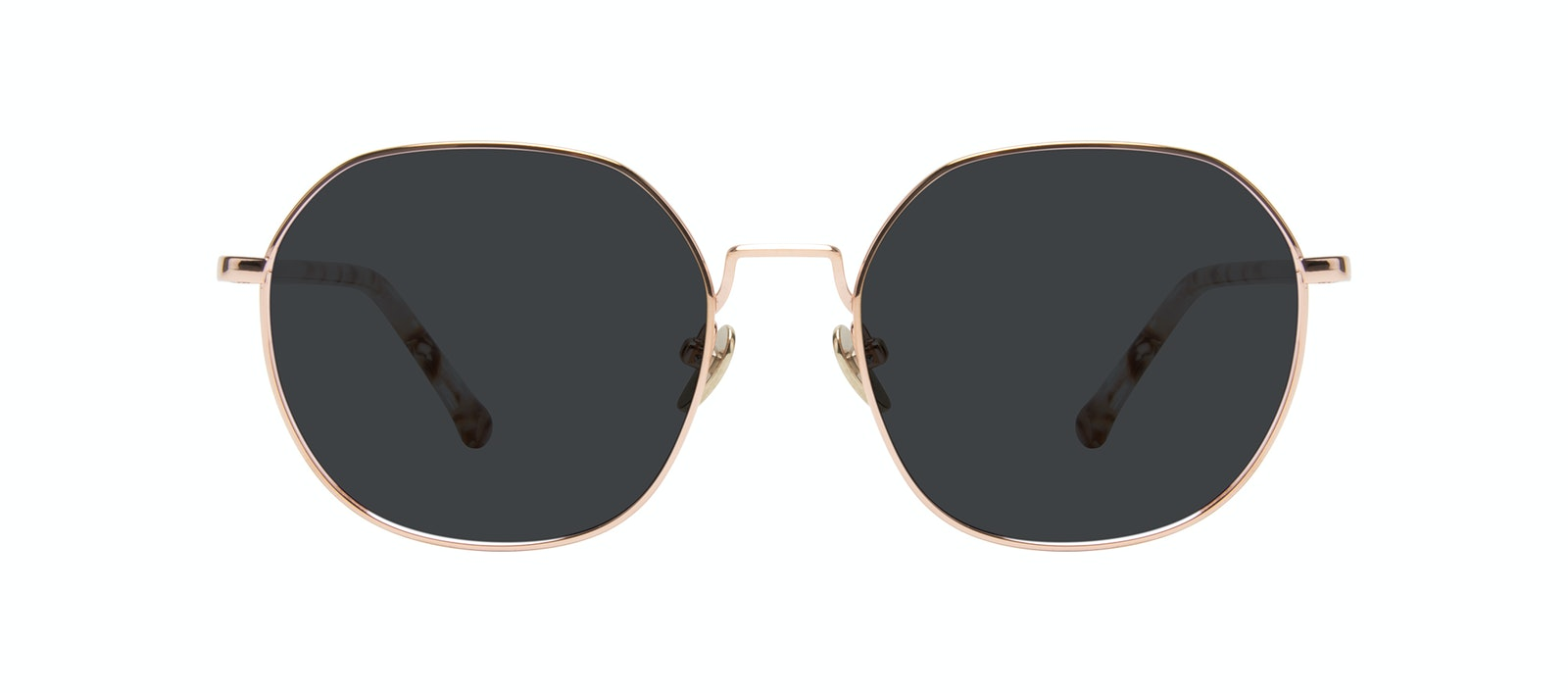 Affordable Fashion Glasses Round Sunglasses Women Coco Rose Gold Front