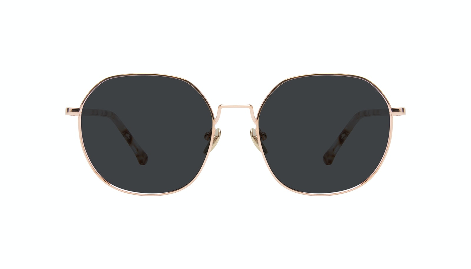 Affordable Fashion Glasses Round Sunglasses Women Coco Rose Gold