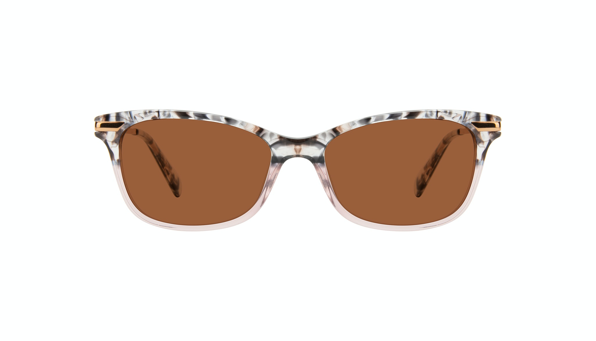 Affordable Fashion Glasses Rectangle Sunglasses Women Comet II Carbone Pink Face