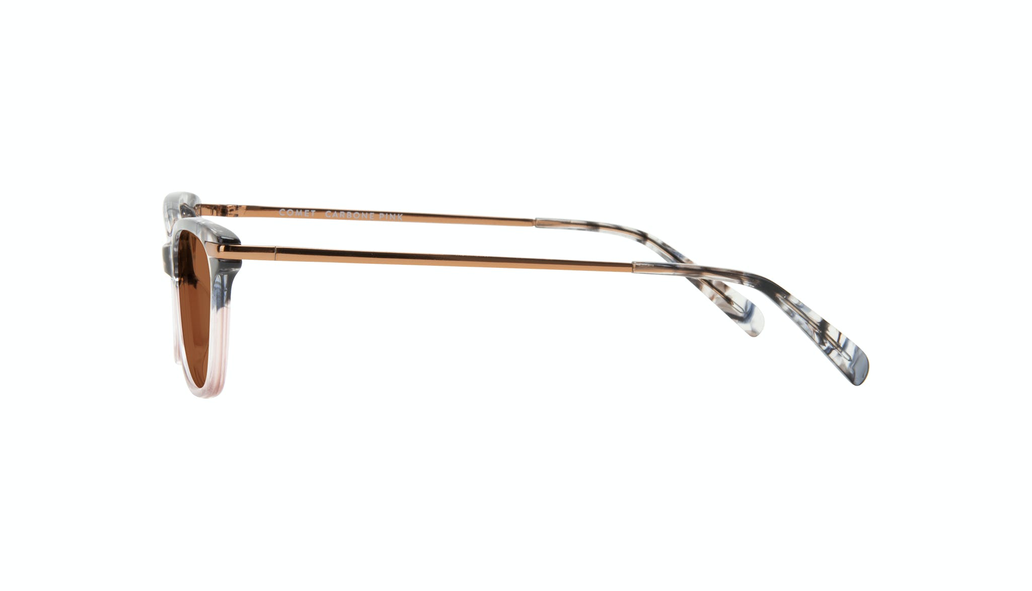 Affordable Fashion Glasses Rectangle Sunglasses Women Comet II Carbone Pink Side
