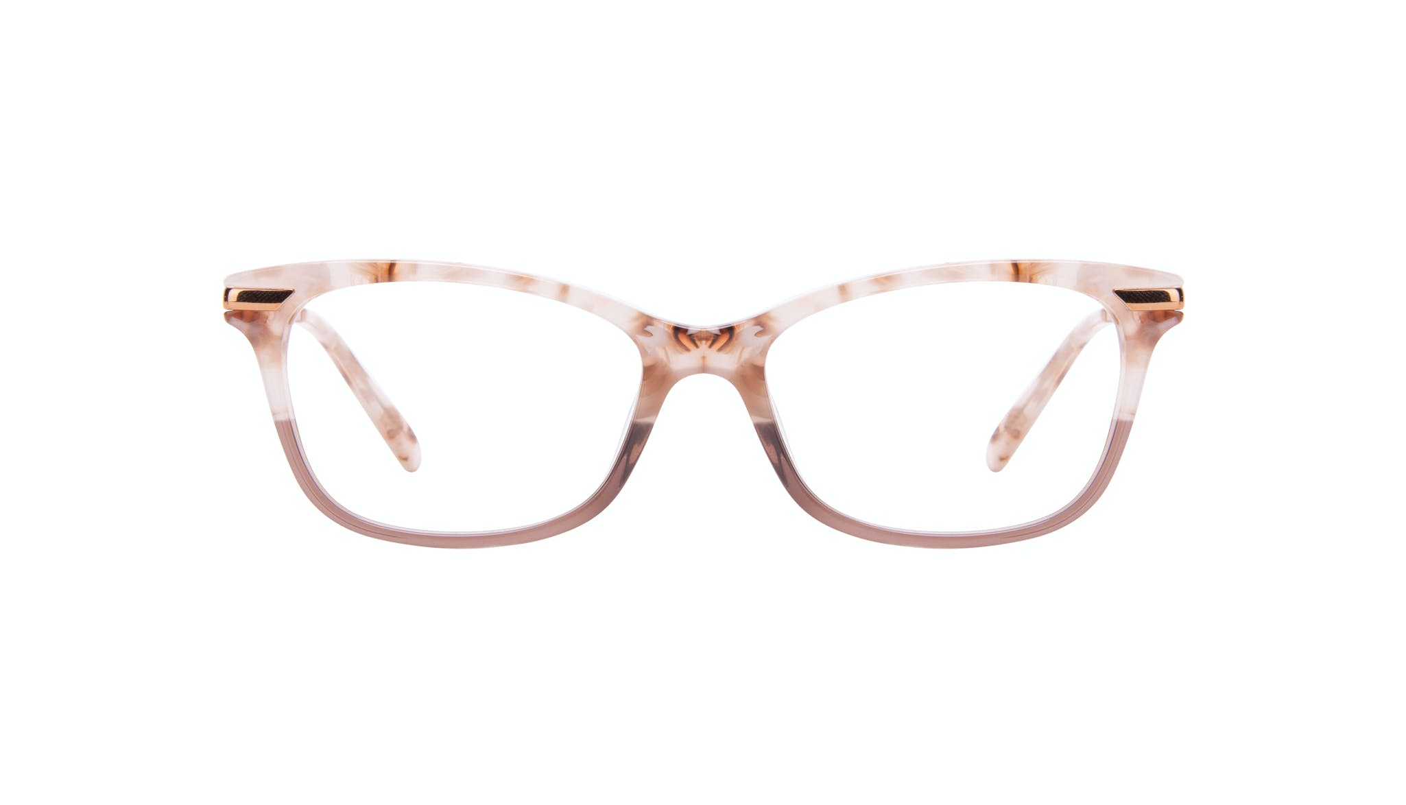 Affordable Fashion Glasses Rectangle Eyeglasses Women Comet II Frosted Sand Front