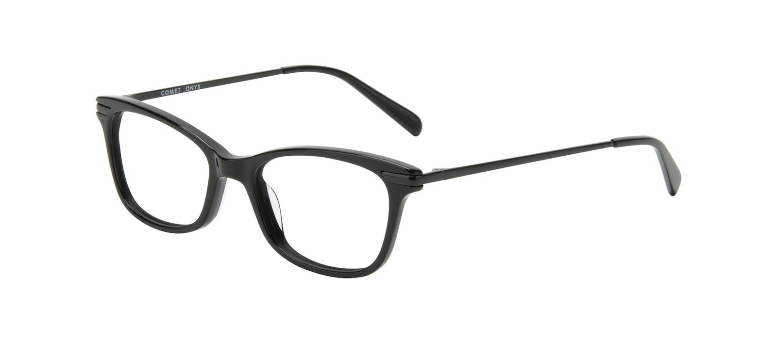 Affordable Fashion Glasses Rectangle Eyeglasses Women Comet II Onyx Tilt