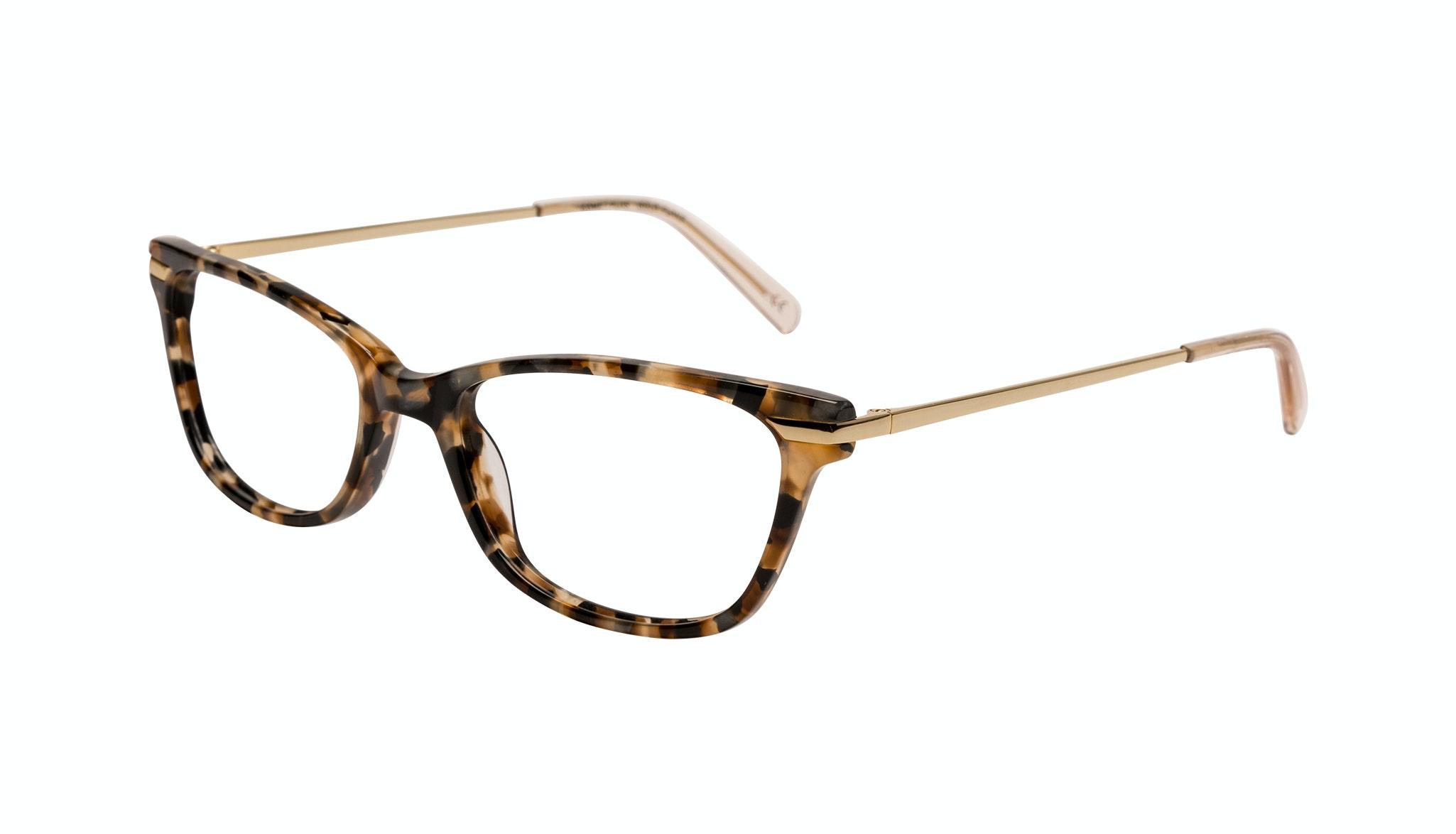 Affordable Fashion Glasses Rectangle Eyeglasses Women Comet Plus Gold Flake Tilt