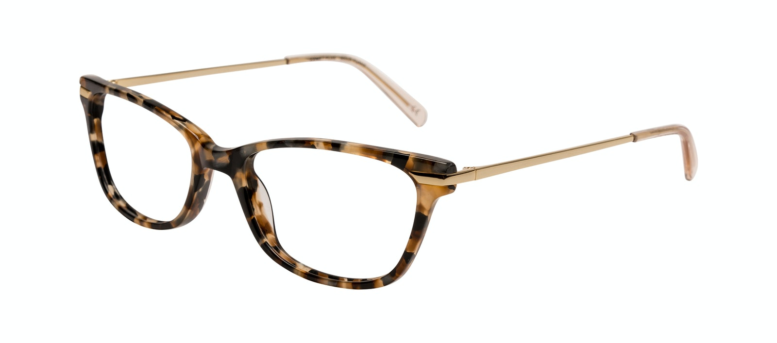 Affordable Fashion Glasses Rectangle Eyeglasses Women Comet Plus Gold Flake Tilt